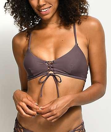 Damsel top de bikini bralette en morado