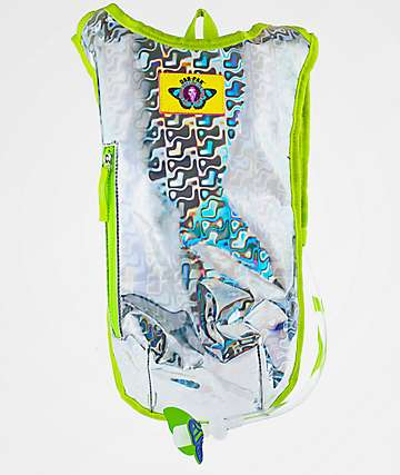 Dan-Pak Retro Raver Silver Hydration Backpack