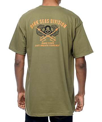 Dark Seas Air Strike Olive T-Shirt
