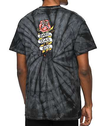 Dark Seas Amor Black Tie Dye T-Shirt