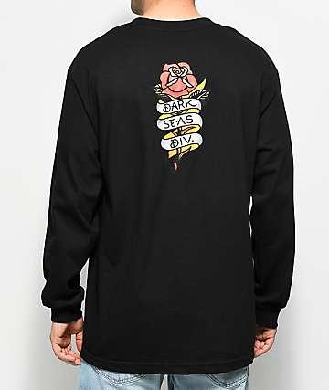 Dark Seas Amor camiseta negra de manga larga