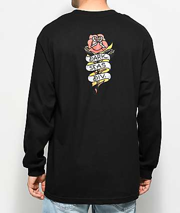 Dark Seas Armor Black Long Sleeve T-Shirt