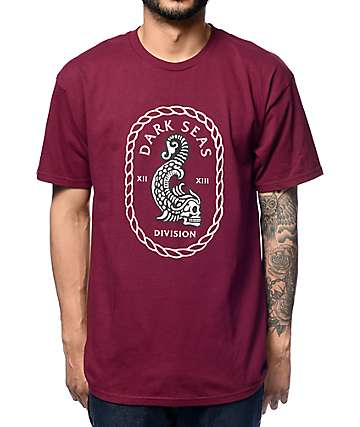 Dark Seas Aztec Burgundy T-Shirt