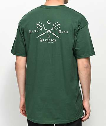 Dark Seas Black Salt Forest Green T-Shirt