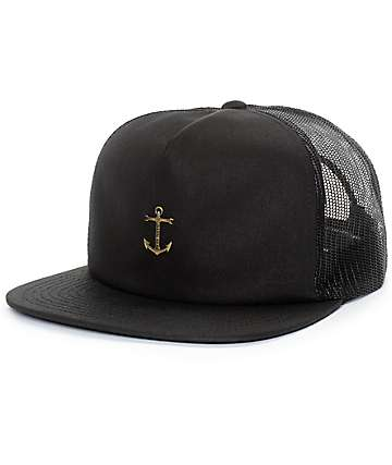 Dark Seas Bottomry Black Mesh Snapback Hat