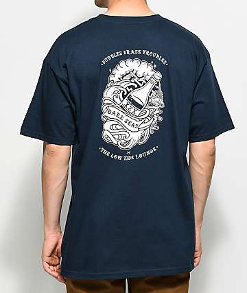 Dark Seas Bubbles Navy T-Shirt