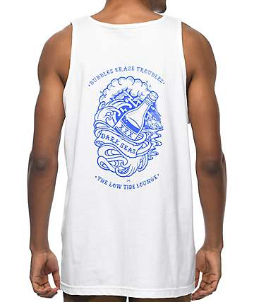 Dark Seas Bubbles White Tank Top