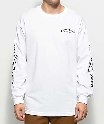Dark Seas Clash White Long Sleeve T-Shirt