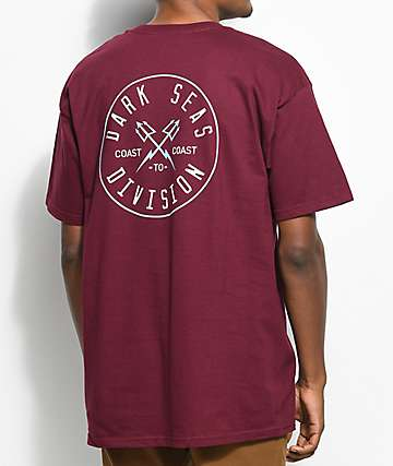 Dark Seas Coastal Guard Burgundy T-Shirt