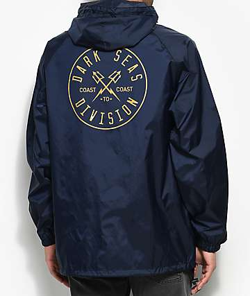 Dark Seas Coastal Guard Navy Anorak Jacket