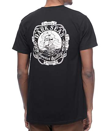 Dark Seas Cold Current Black T-Shirt