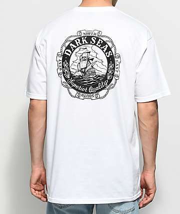 Dark Seas Cold Current White T-Shirt