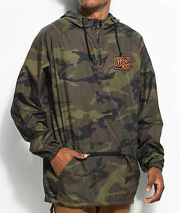 Dark Seas Dock Logo Camo Anorak Jacket
