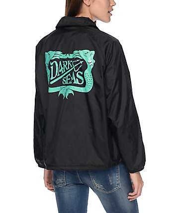 Dark Seas Dock Sirens Black Coaches Jacket