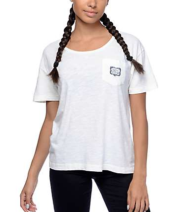 Dark Seas Dock Sirens White Pocket T-Shirt