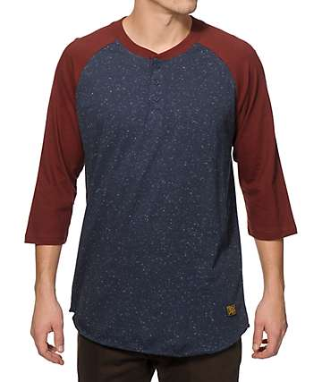 Dark Seas Founder Henley Baseball Shirt