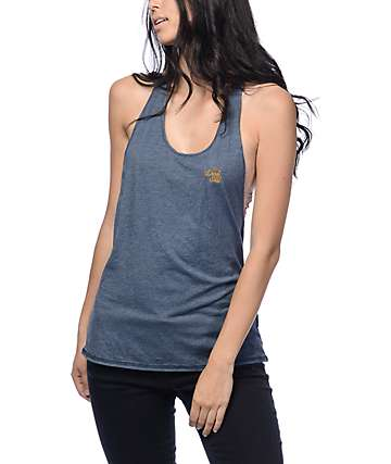 Dark Seas Free Board Navy Anchor Back Tank Top