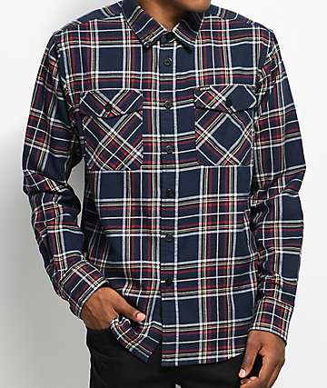 Dark Seas Goleta Navy Flannel Shirt