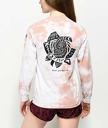 Dark Seas Hawthorn Mauve Tie Dye Long Sleeve T-Shirt