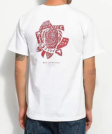 Dark Seas Hawthorn White & Red T-Shirt