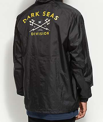 Dark Seas Headmaster Black Hooded Coaches Jacket