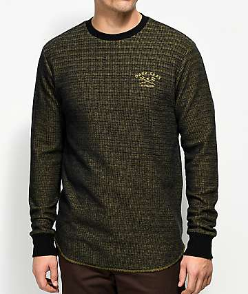 Dark Seas Last Ship Black & Gold Long Sleeve Knit T-Shirt