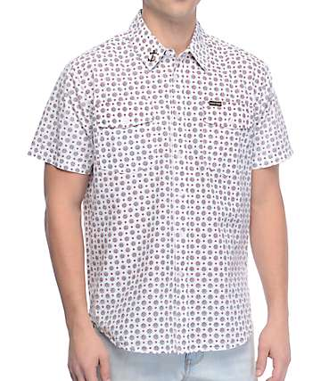Dark Seas Main Sheet White Woven Shirt