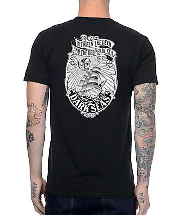 Dark Seas Maven Black T-Shirt