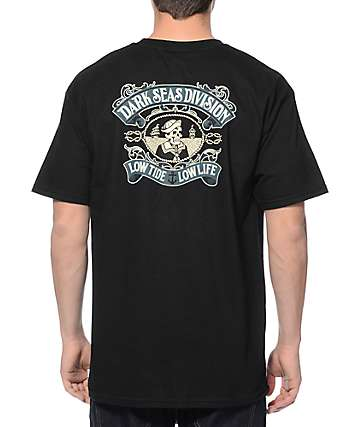 Dark Seas Midshipman Black T-Shirt