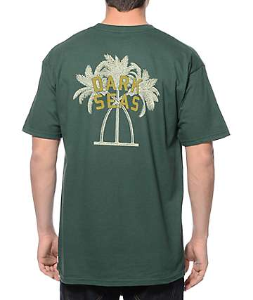 Dark Seas Mirage Dark Green T-Shirt