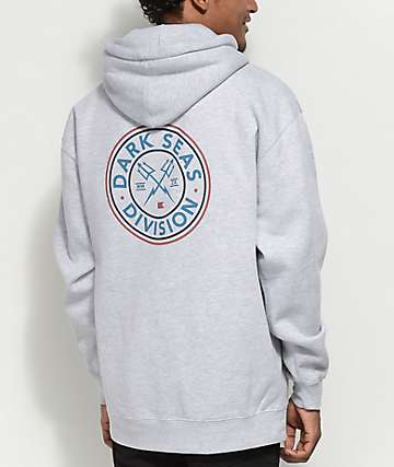 Dark Seas Navigator Heather Grey Hoodie