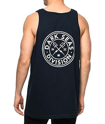 Dark Seas Navigator Navy Tank Top