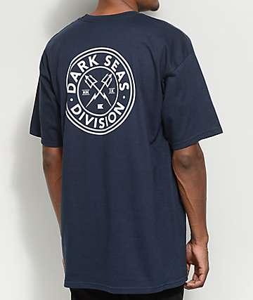 Dark Seas Navigator camiseta en azul marino