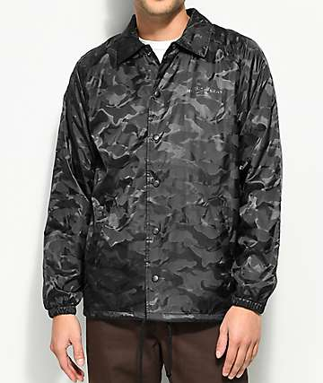 Dark Seas Night Prowler Black Camo Coaches Jacket