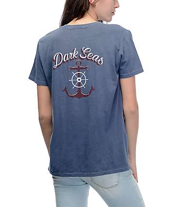 Dark Seas Pier View All Day Blue T-Shirt