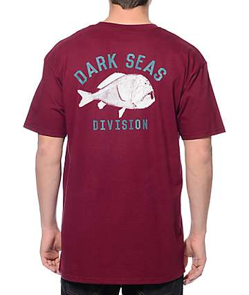 Dark Seas Prehistoric Burgundy T-Shirt
