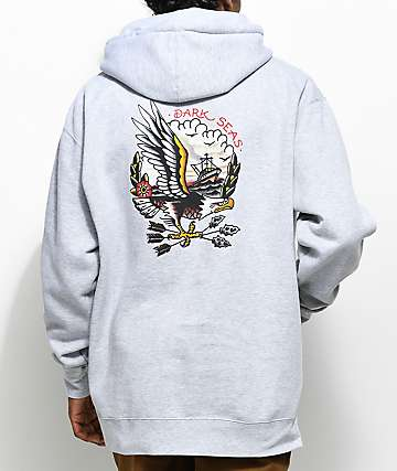 Dark Seas Protected Heather Grey Hoodie