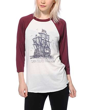 Dark Seas Sailors Prayer Baseball Tee
