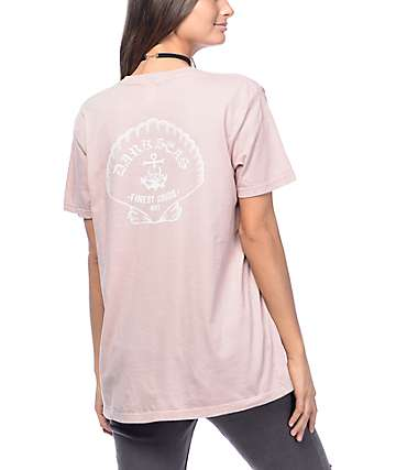Dark Seas Shell Shock Mauve T-Shirt