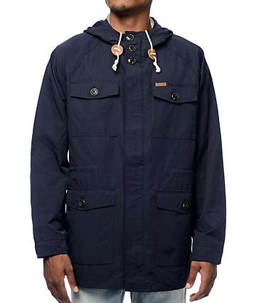 Dark Seas Skysale Navy Hooded Jacket