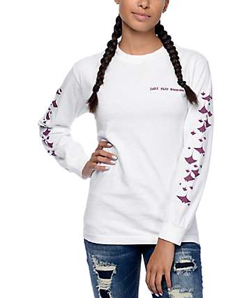Dark Seas Sting Ray White Long Sleeve Shirt