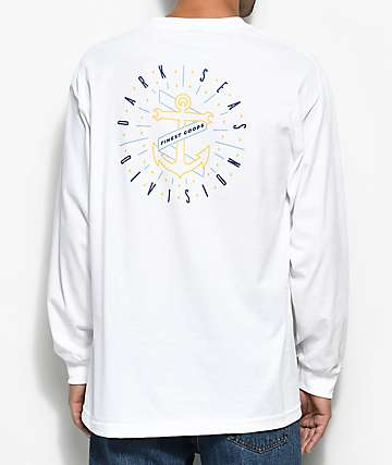 Dark Seas Sunburst White Long Sleeve T-Shirt