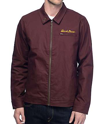 Dark Seas Transmit Burgundy Twill Jacket