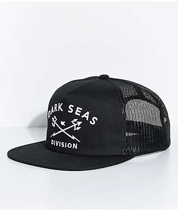Dark Seas Trident Black Trucker Hat