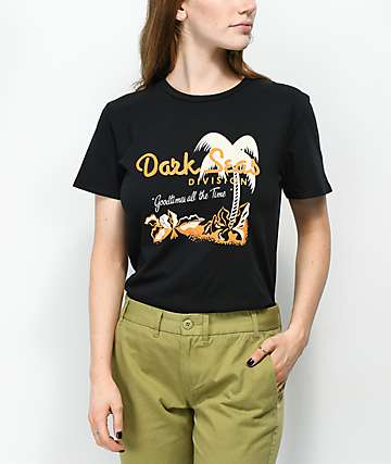 Dark Seas Vacation Black T-Shirt