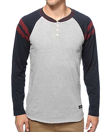 Dark Seas Wales Henley Baseball T-Shirt