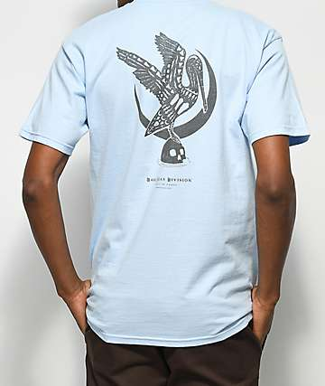 Dark Seas Water Bird Light Blue & Black T-Shirt