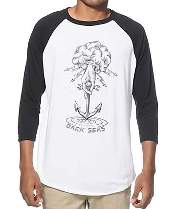 Dark Seas Whirlpool Baseball T-shirt