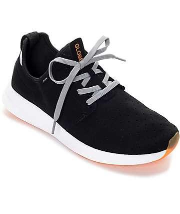Dart Lyt Black, Grey & Orange Shoes