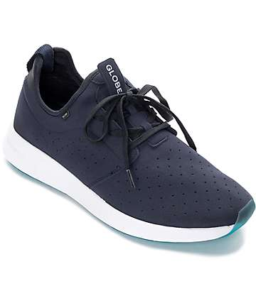 Dart Lyt Navy & White Shoes